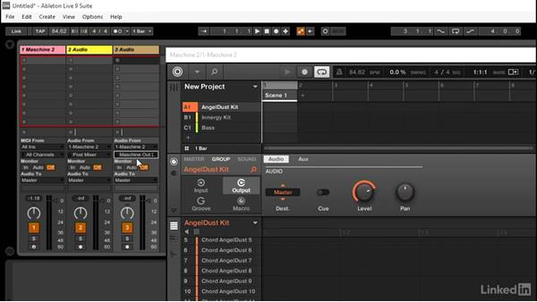 Setting up Ableton audio tracks to receive audio from MASCHINE: Using MASCHINE with Ableton Live