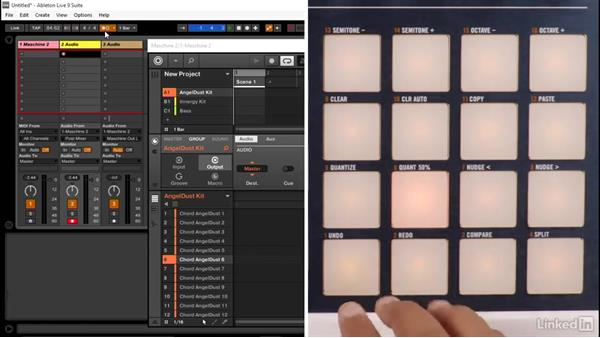 Creating an audio loop in real time from MASCHINE: Using MASCHINE with Ableton Live