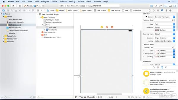 Reuse table view cells: iOS 10 App Development Essentials 5: Working with Views