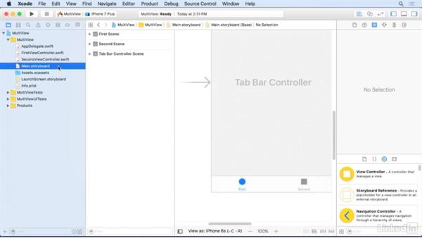 Deconstruct a tabbed application: iOS 10 App Development Essentials 5: Working with Views