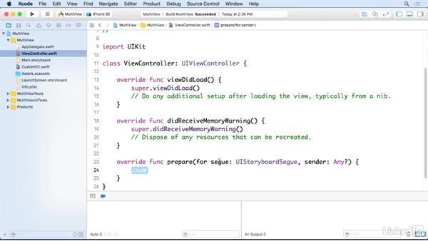 Send data between views: iOS 10 App Development Essentials 5: Working with Views