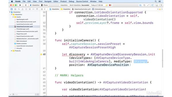 Set up AVCaptureSession: AVFoundation Essentials for iOS with Swift