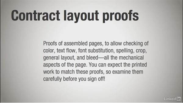 The importance of contract proofs: Learning Print Production