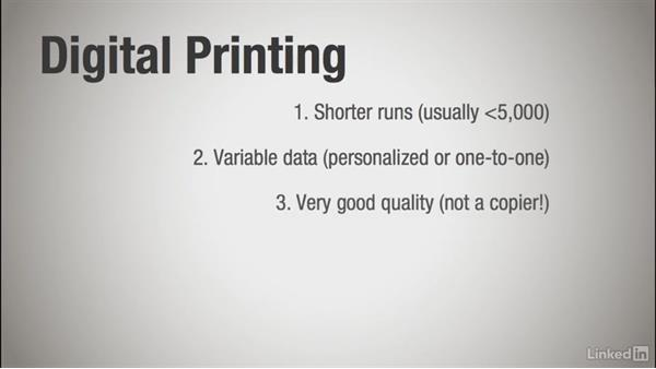Choosing the type of printing: Learning Print Production