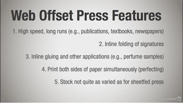 Using a web press for long runs: Learning Print Production