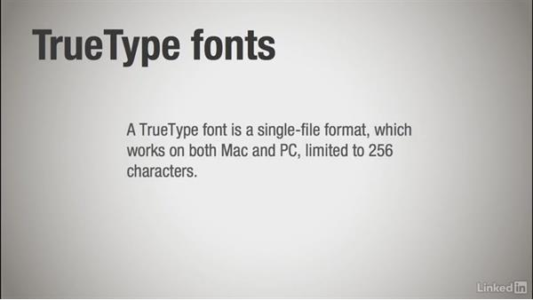 Understanding font formats: Learning Print Production