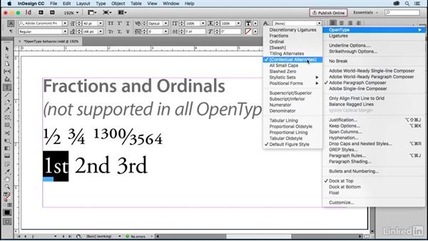 Using Open Type fonts: Learning Print Production