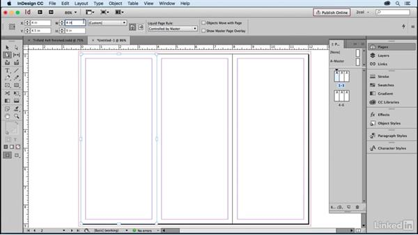 Create a 3-panel brochure, folded size: Learning Print Production