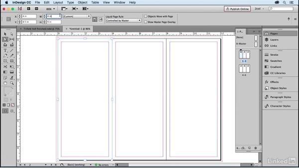create a 3 panel brochure folded size