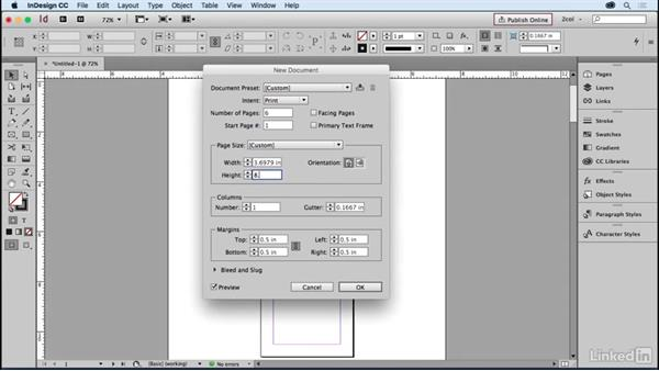 Create a 3-panel brochure, flat size: Learning Print Production