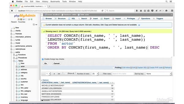 Transform SQL results with string functions: SQL for Data Reporting and Analysis
