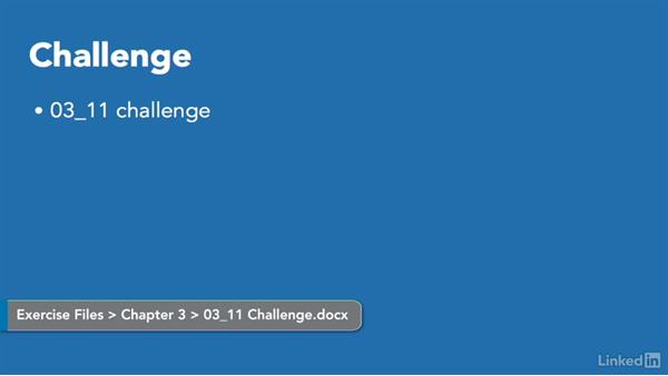 Challenge: Insert and format text: Word 2010: Prepare for the Microsoft Office Specialist Certification Exam (77-881)