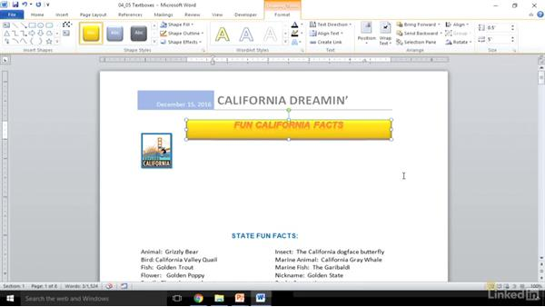 Insert and modify text boxes: Word 2010: Prepare for the Microsoft Office Specialist Certification Exam (77-881)