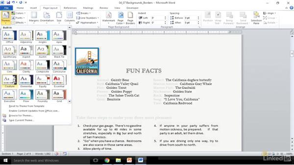 Add page backgrounds and borders: Word 2010: Prepare for the Microsoft Office Specialist Certification Exam (77-881)