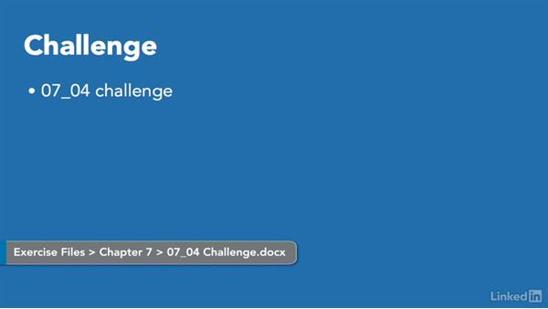 Challenge: Add document objects: Word 2010: Prepare for the Microsoft Office Specialist Certification Exam (77-881)