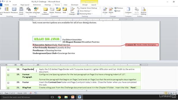 Solution: Full-length MOS sample exam for Word 2010
