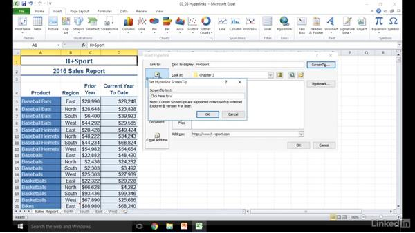 Apply and manipulate hyperlinks: Excel 2010: Prepare for the Microsoft Office Specialist Certification Exam (77-882)