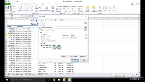 Create row and column titles: Excel 2010: Prepare for the Microsoft Office Specialist Certification Exam (77-882)