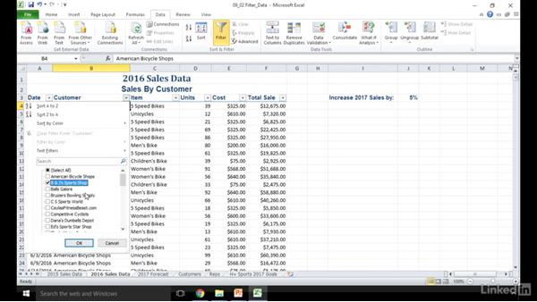 Filter data: Excel 2010: Prepare for the Microsoft Office Specialist Certification Exam (77-882)