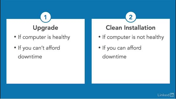 Choose an upgrade or clean installation: Windows 10: Implementation