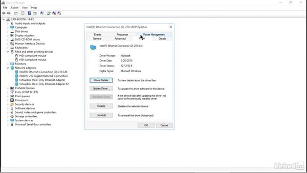 Configure driver settings: Windows 10: Implementation