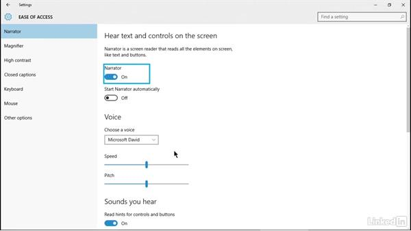 Explore accessibility Ooptions: Windows 10: Implementation