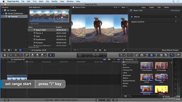Assembling and editing footage: 360 Video Workflow