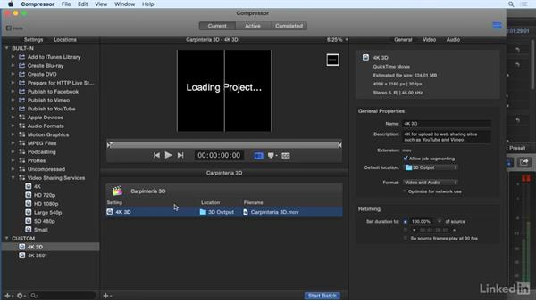 Finishing and exporting: 360 Video Workflow