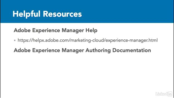 Helpful resources: Adobe Experience Manager for Marketers