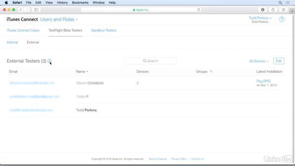 TestFlight beta testing: iOS 10 App Development Essentials 6: Distributing Your App