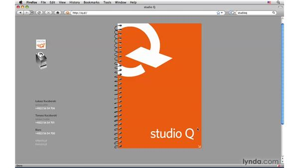 Digital portfolios: Studio Q: InDesign CS4: Interactive Documents and Presentations