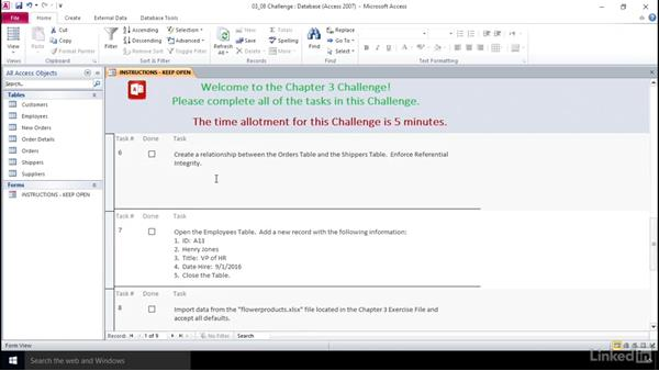 Using the challenges: Access 2010: Prepare for the Microsoft Office Specialist Certification Exam (77-885)