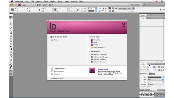 Customizing the workspace: InDesign CS4: Interactive Documents and Presentations