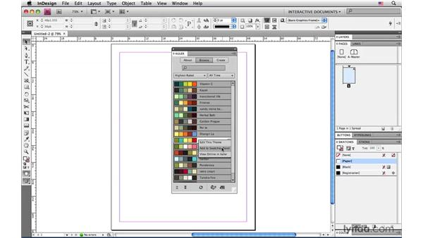 Creating an RGB color palette: InDesign CS4: Interactive Documents and Presentations