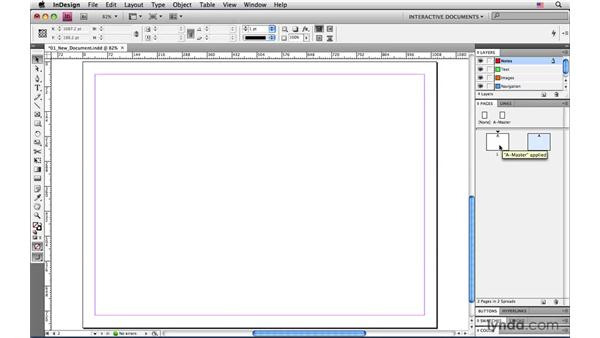 Adding layers to stay organized: InDesign CS4: Interactive Documents and Presentations