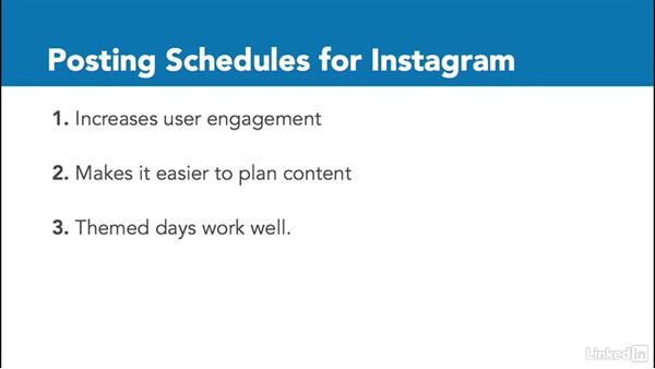 Developing a posting schedule: Instagram for Business