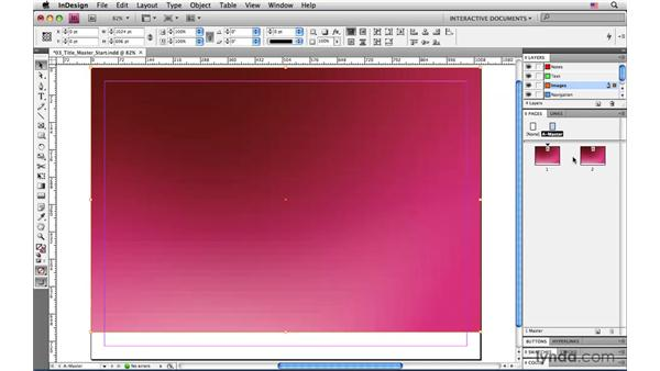 Creating a title slide master page: InDesign CS4: Interactive Documents and Presentations