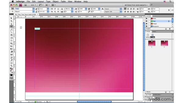 Adding placeholder text: InDesign CS4: Interactive Documents and Presentations