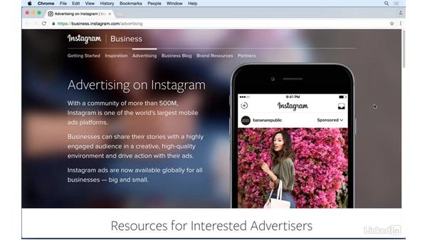 Introduction to advertising on Instagram: Instagram for Business