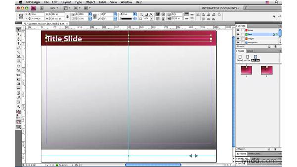 Creating a content slide master page: InDesign CS4: Interactive Documents and Presentations