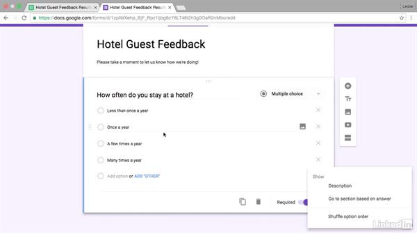 Use Google Forms to create surveys: Google Sheets Advanced Tips and Tricks