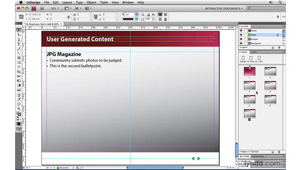 Duplicating and moving pages: InDesign CS4: Interactive Documents and Presentations