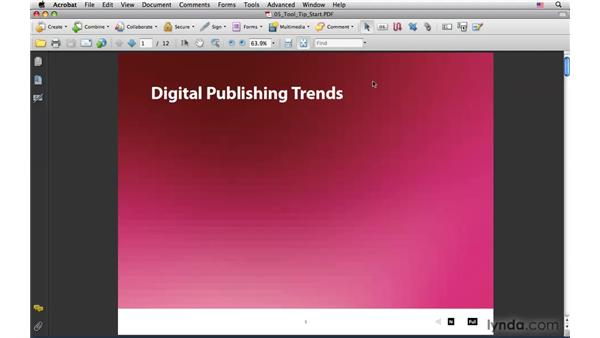 Adding a tool tip to a button in Acrobat Professional: InDesign CS4: Interactive Documents and Presentations