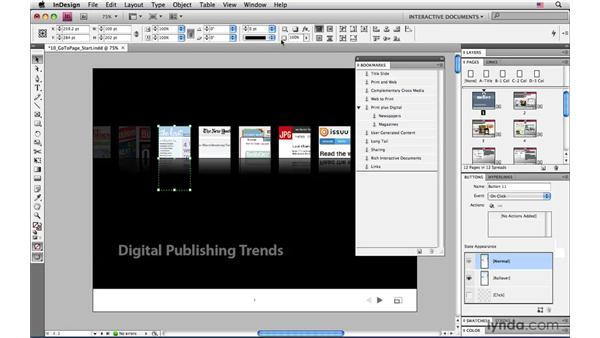 Making a button to go to a specific page in a PDF: InDesign CS4: Interactive Documents and Presentations