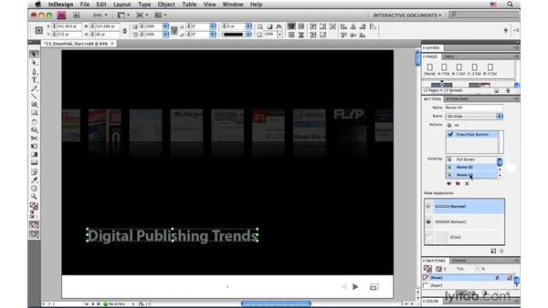 """Creating """"remote rollovers"""" with Show/Hide Button: InDesign CS4: Interactive Documents and Presentations"""