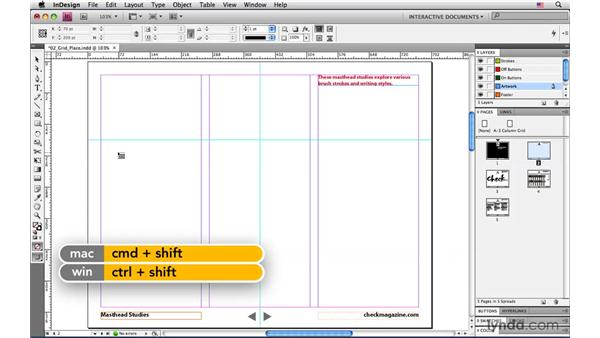 Placing multiple files as a grid of images: InDesign CS4: Interactive Documents and Presentations