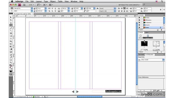 Adding the URL hyperlink: InDesign CS4: Interactive Documents and Presentations