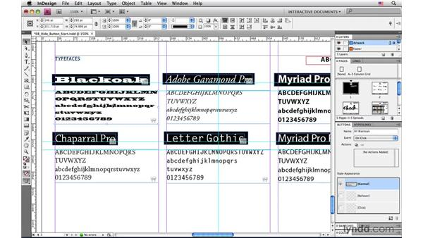 Creating a button that hides itself when clicked: InDesign CS4: Interactive Documents and Presentations