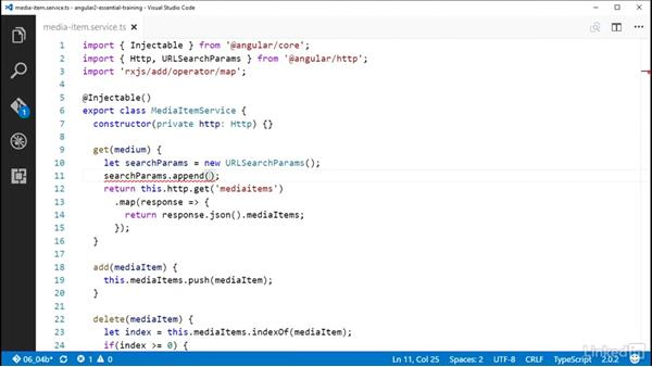 Using URLSearchParams: Angular 2 Essential Training