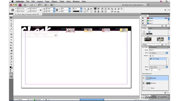 Exporting a SWF prototype for a Flash developer: InDesign CS4: Interactive Documents and Presentations
